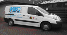 A Power Service Scotland Van